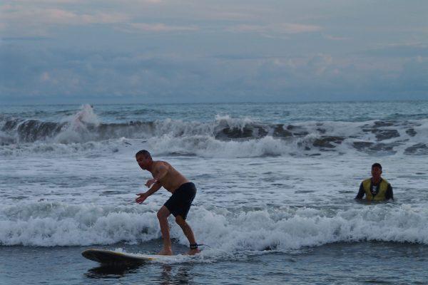 François dans une de ses premières vagues